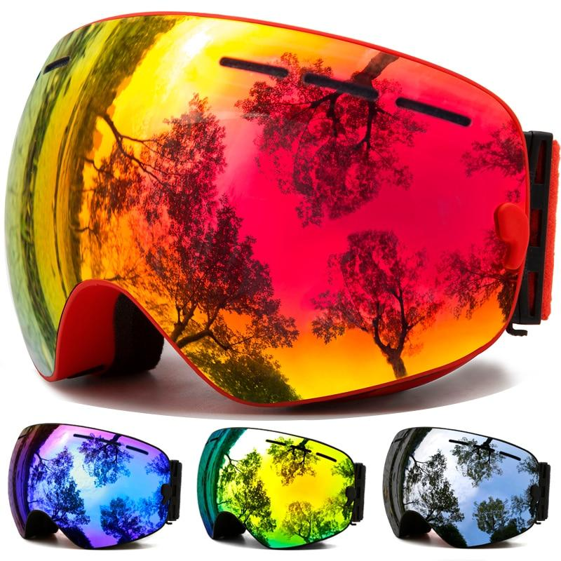 Ski Snowboard Goggles With Anti-Fog Uv Protection For Winter Snow Sports