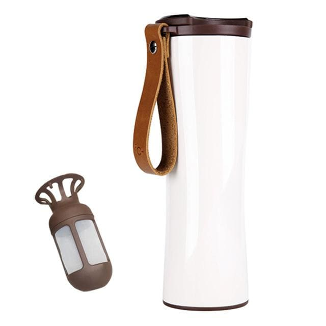 Smart Travel Coffee Cup/tumbler With Temperature Display - White