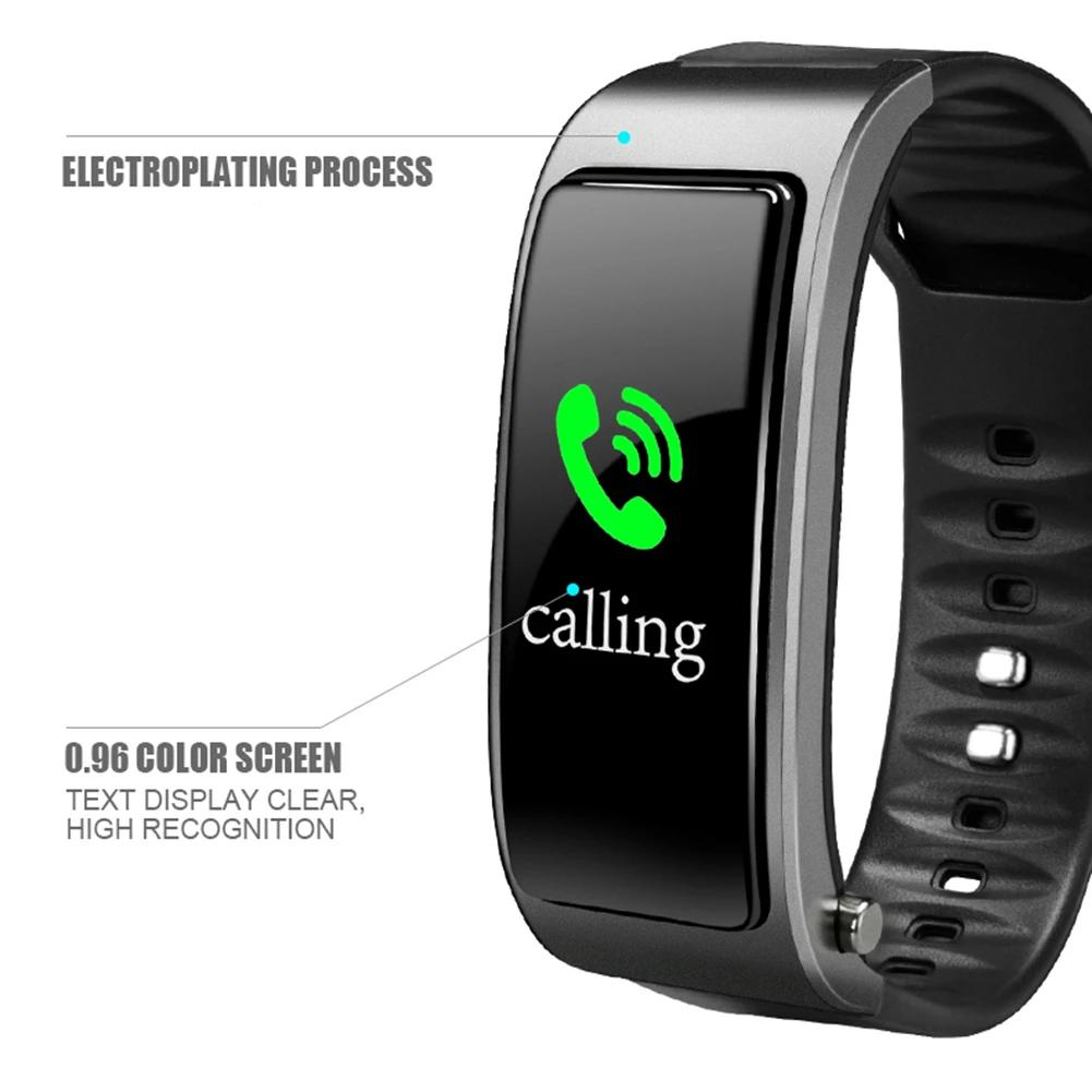 Smartwatch With Bluetooth Headset - Heart Rate Monitor Fitness Tracker Wristband - Smart Wristbands