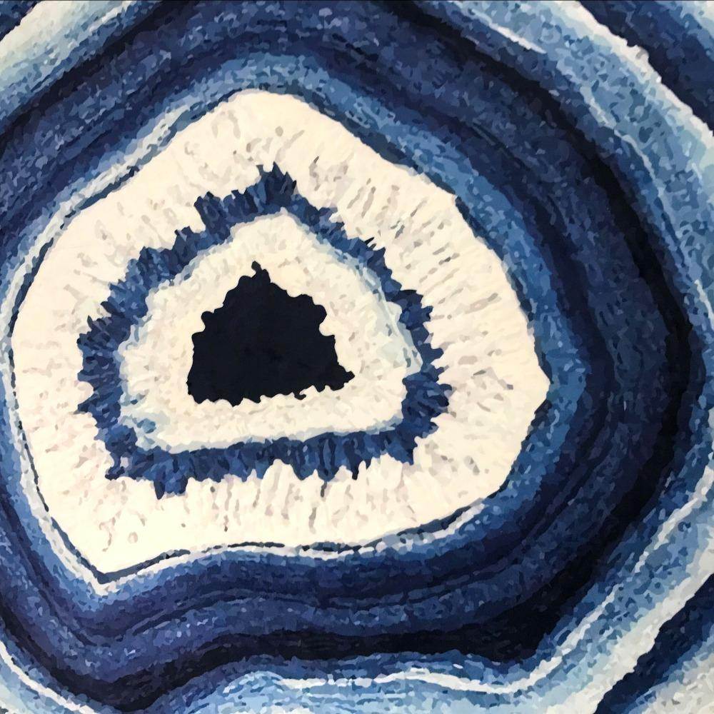 Smooth Crystal Agate Geode Area Rug