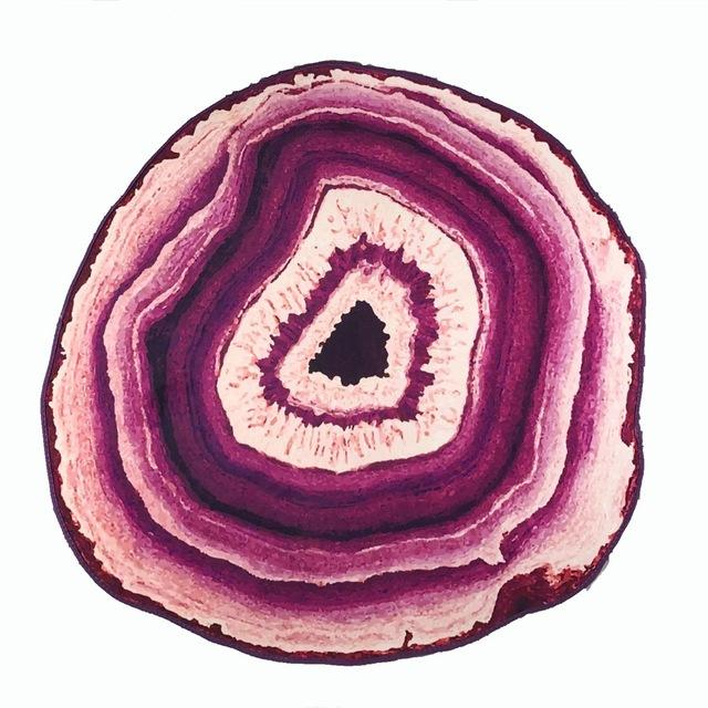Smooth Crystal Agate Geode Area Rug - Purple / 140 Cm/54 Inch