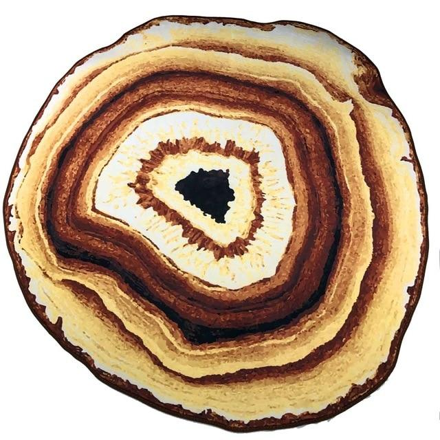 Smooth Crystal Agate Geode Area Rug - Yellow / 140 Cm/54 Inch