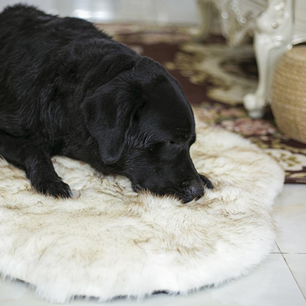 Soft Faux Fur Pet Dog Bed - Orthopedic Dog Bed With Vegan Fur Memory Foam Cushion