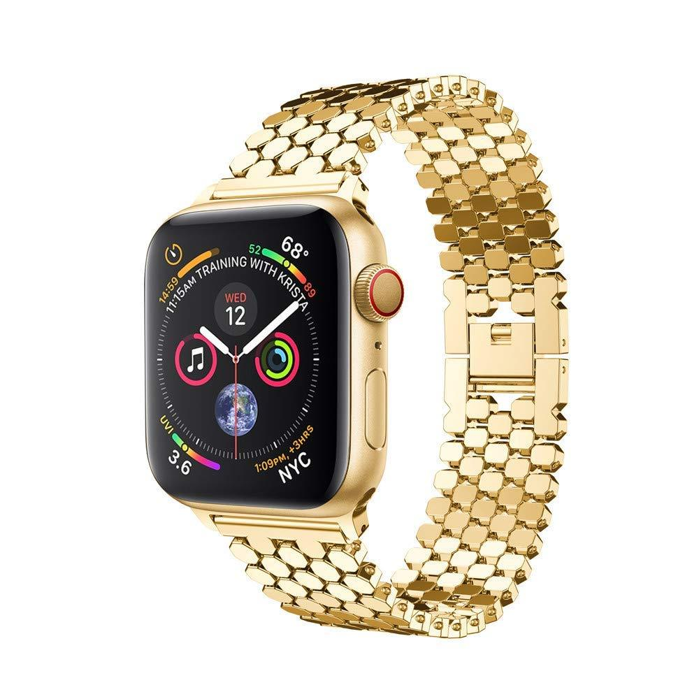 Stainless Steel Apple Watch Straps - iWatch Bands Series 4 3 2 1 - Gold / 38mm-40mm - Watchbands
