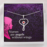 Stethoscope Necklace In Swarovski Crystal For Nurse - Jewelry