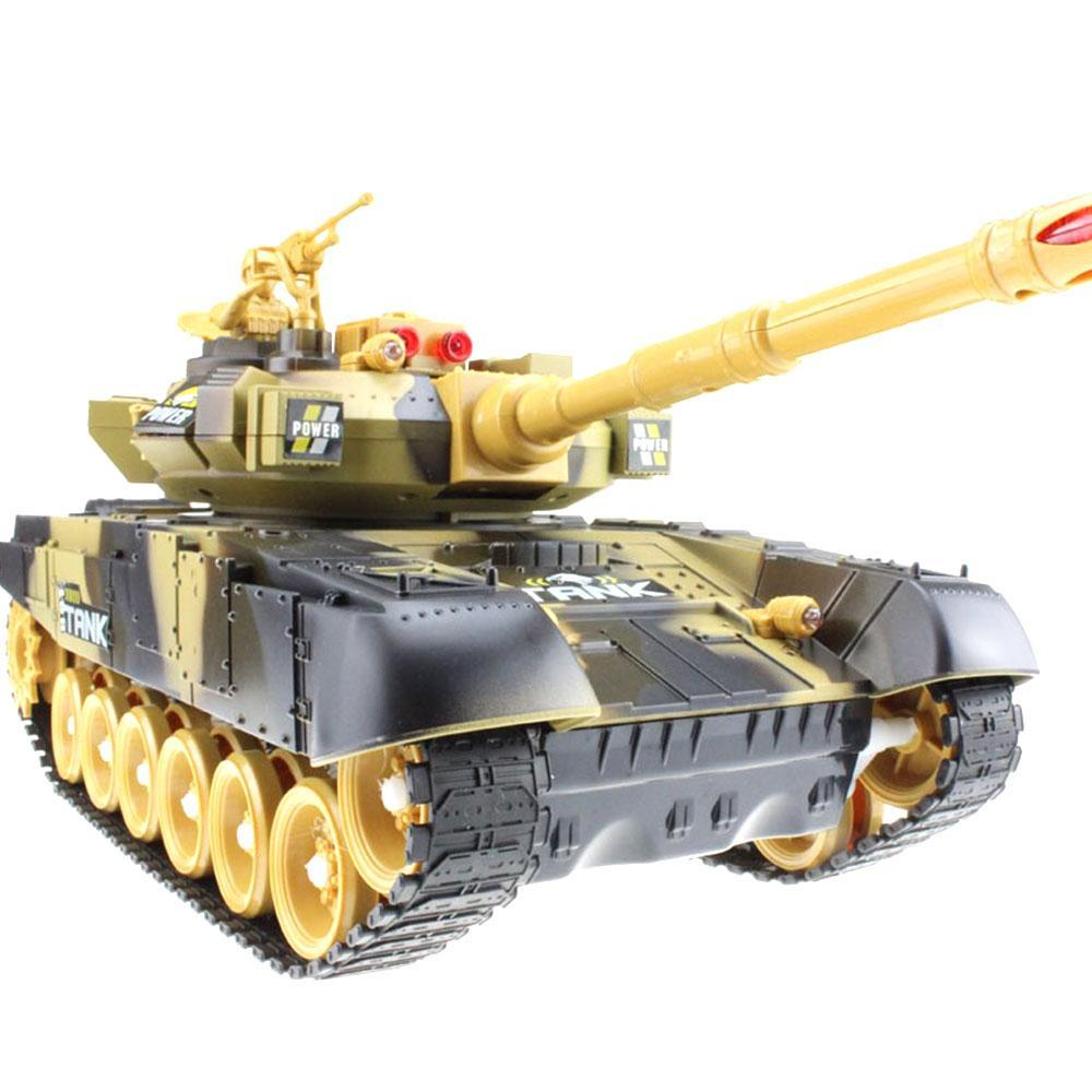 Super RC Battle Military Tank - 33CM Yellow