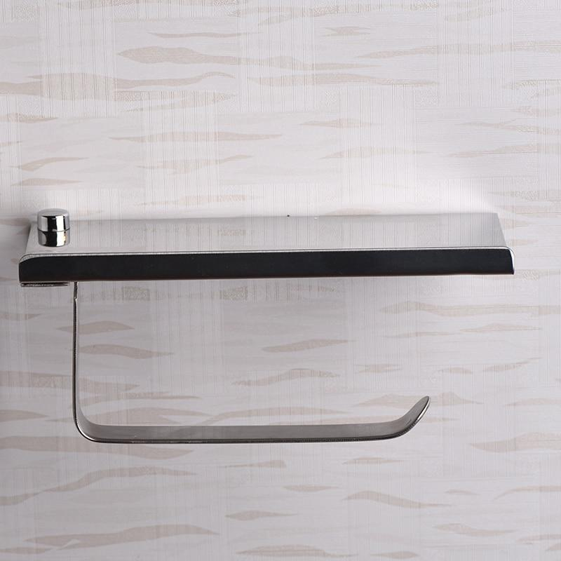 Supreme Stainless Steel Toilet Tissue Paper Holder With Phone Rack - Paper Holders