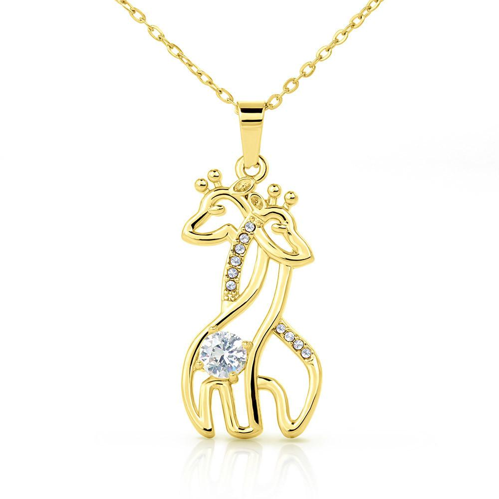 To My Daughter - Graceful Love Giraffe Necklace Jewelry For Daughter - Jewelry