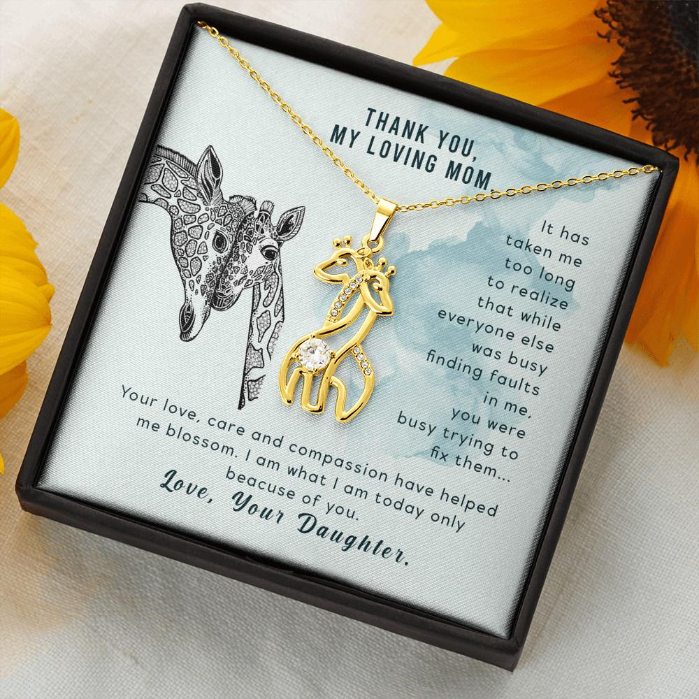 To My Mother - Graceful Love Giraffe Necklace Women Jewelry - Jewelry
