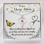 To My Nurse Mom - Stethoscope Swarovski Necklace Jewelry Gift For Mom - Jewelry