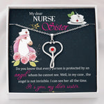 To My Nurse Sister - Stethoscope Swarovski Necklace Jewelry For Sister - Jewelry