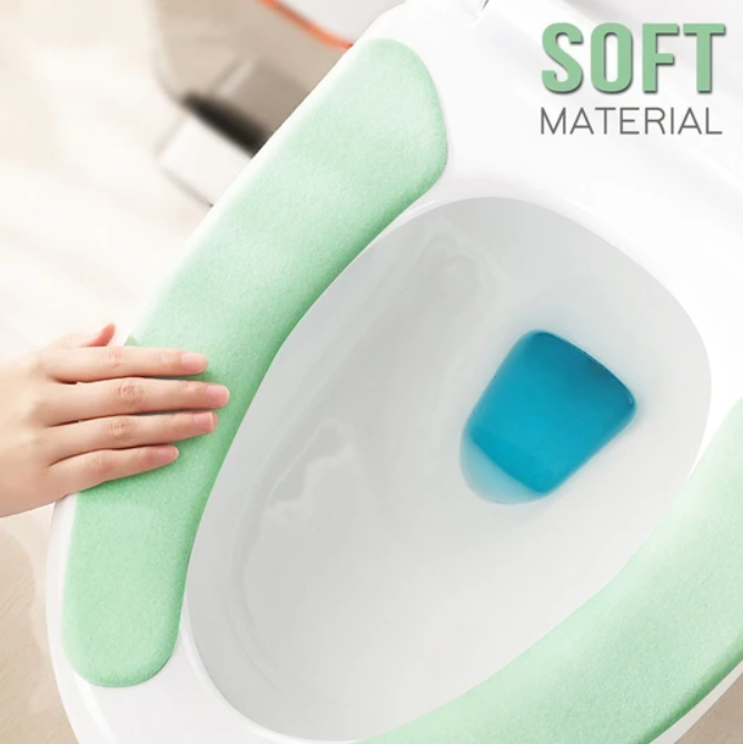 Toilet Cushion - Washable Self-Adhesive Toilet Seat Sticker Pad - Toilet Seat Covers