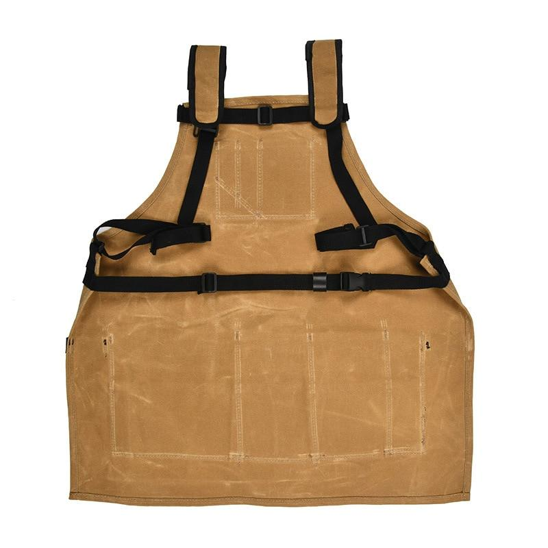 ToolCollector - Heavy Duty Multi-Pocket Waxed Waterproof Hardware Tool Apron - Aprons