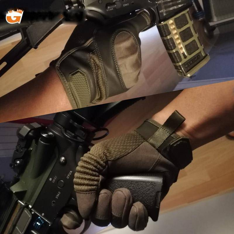 Touch Screen Hard Knuckle Tactical Military Combat Leather Gloves For Shooting HIking