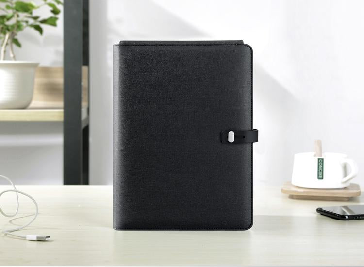 TravelPad - Multifunctional Portable Padfolio Notebook With Wireless Charging Power Bank - Black - Padfolio