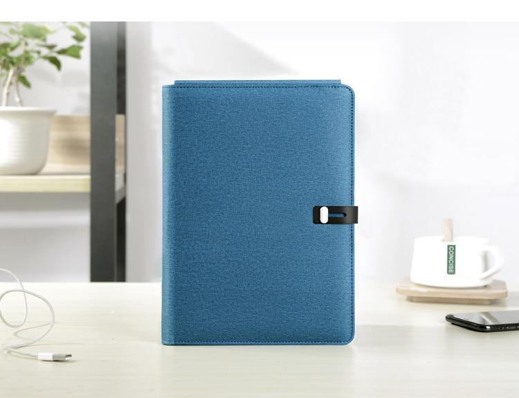 TravelPad - Multifunctional Portable Padfolio Notebook With Wireless Charging Power Bank - Blue - Padfolio