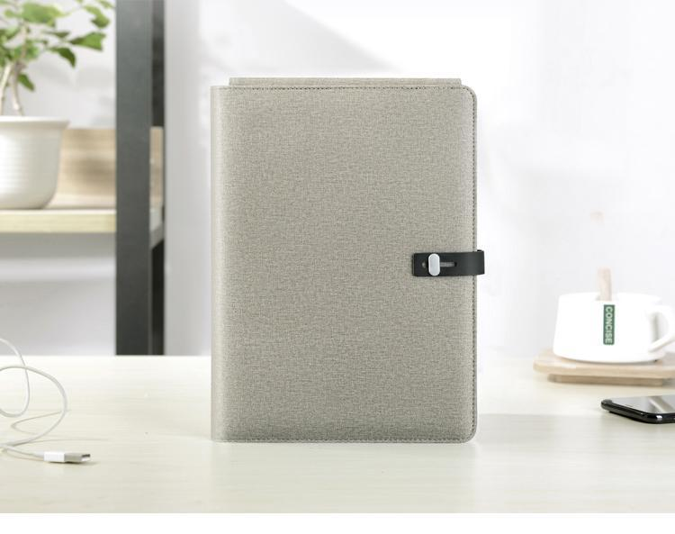 TravelPad - Multifunctional Portable Padfolio Notebook With Wireless Charging Power Bank - Champagne - Padfolio
