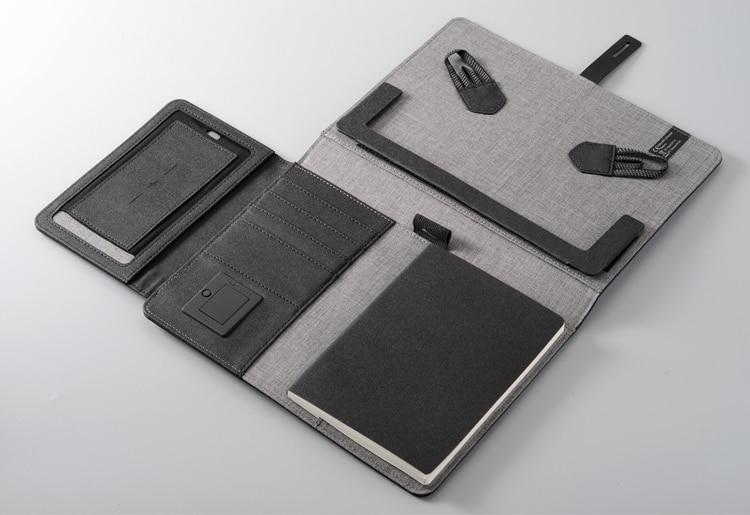 TravelPad - Multifunctional Portable Padfolio Notebook With Wireless Charging Power Bank - Padfolio