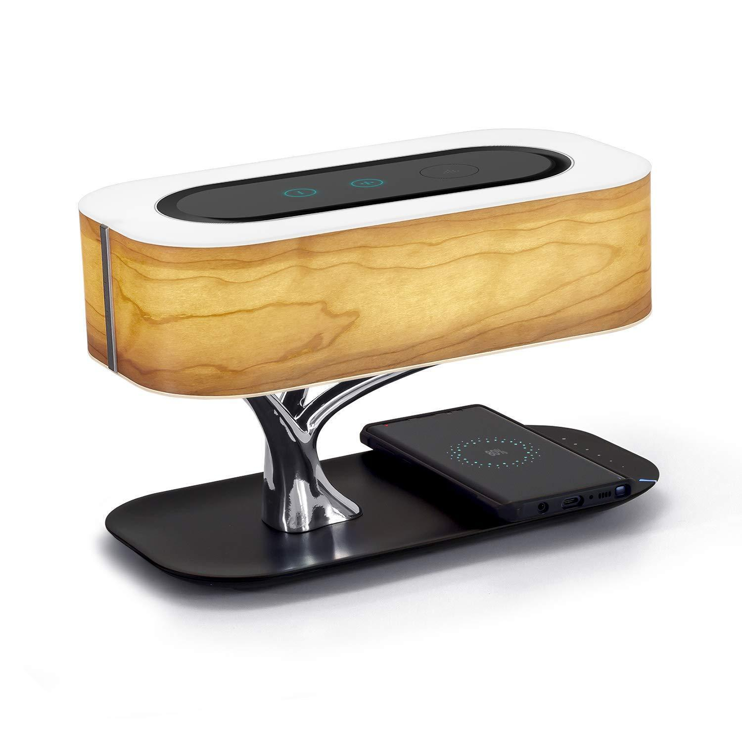 Tree Lamp - Bedside Table Lamp With Bluetooth Speaker & Wireless Charger - Combination Speakers