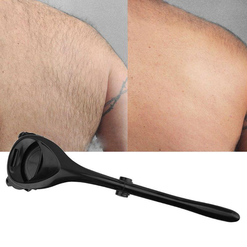 Two Headed Blade Back Hair Shaver Trimmer Body Leg Long Handle