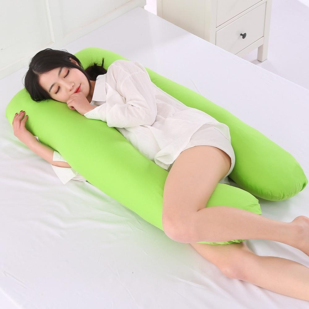 U-Shaped Best Pregnancy Body Pillow - Maternity Pillow For Pregnant Women/Side Sleepers cushion - Green - Body Pillows