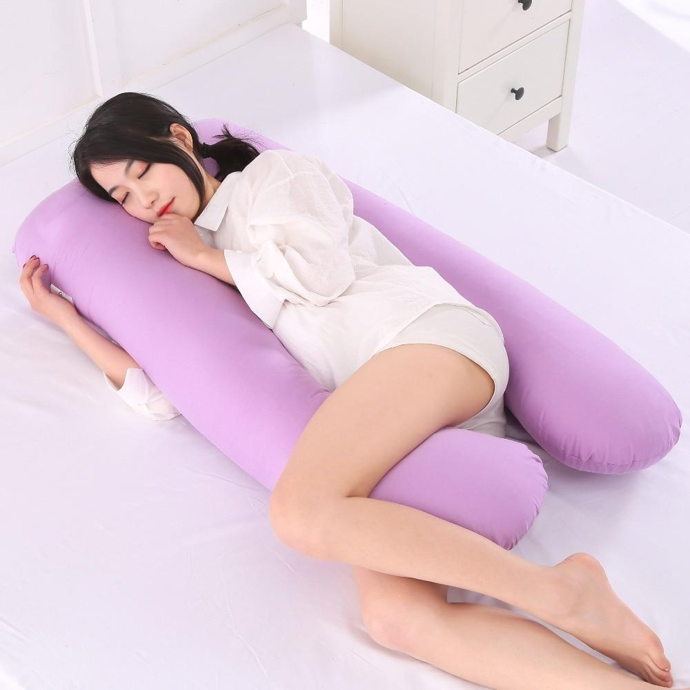 U-Shaped Best Pregnancy Body Pillow - Maternity Pillow For Pregnant Women/Side Sleepers cushion - Purple - Body Pillows