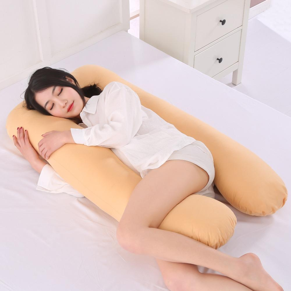 U-Shaped Best Pregnancy Body Pillow - Maternity Pillow For Pregnant Women/Side Sleepers cushion - Yellow - Body Pillows