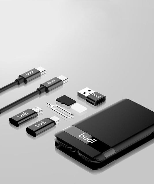 Urban Survival Accessories Card - Portable Wireless Multi-Head Charging Cable Card - Basic (No Wireless Charging) - EDC Card