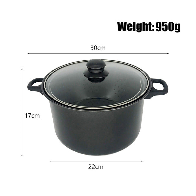 StrainPot - Cooking Pot With Built-In Strainer Pot Drain Basket - Small