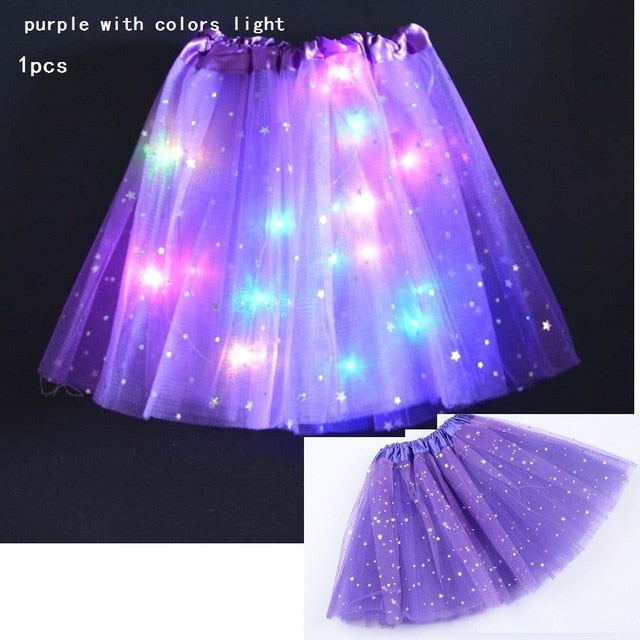 Starlight LED Princess Light Up Tutu Costume - Purple / For Teenager/Adult - Glow Party Supplies