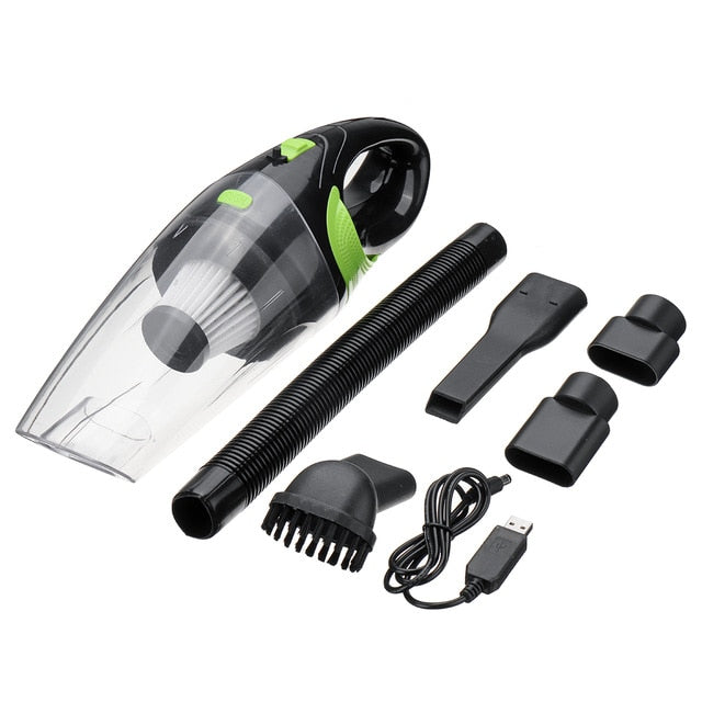 Handheld Portable Mini Wireless Car Vacuum Cleaner - Wet & Dry Dual Use - Green - Vacuum Cleaners