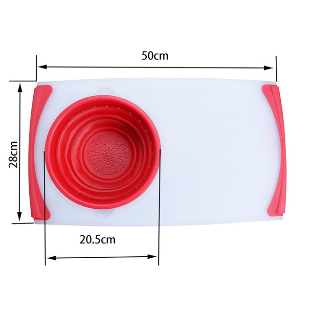 Multi-Functional Collapsible Sink Drain Basket Cutting Board - Chopping Blocks