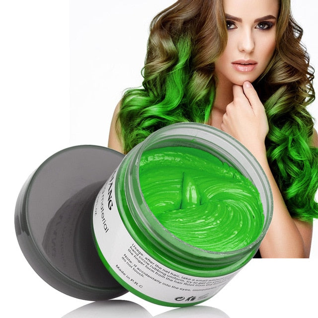 Mofajang Hair Color Wax - Disposable Washable Temporary Color Dye - Green - Hair Color
