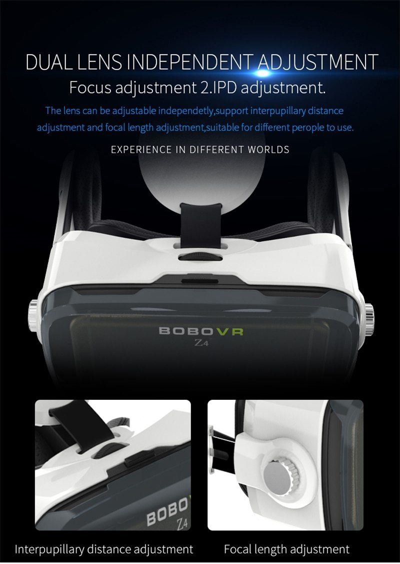 VR Kit Virtual Reality Glasses With Stereo Headset For Mobile Phones - 3D Glasses/ Virtual Reality Glasses