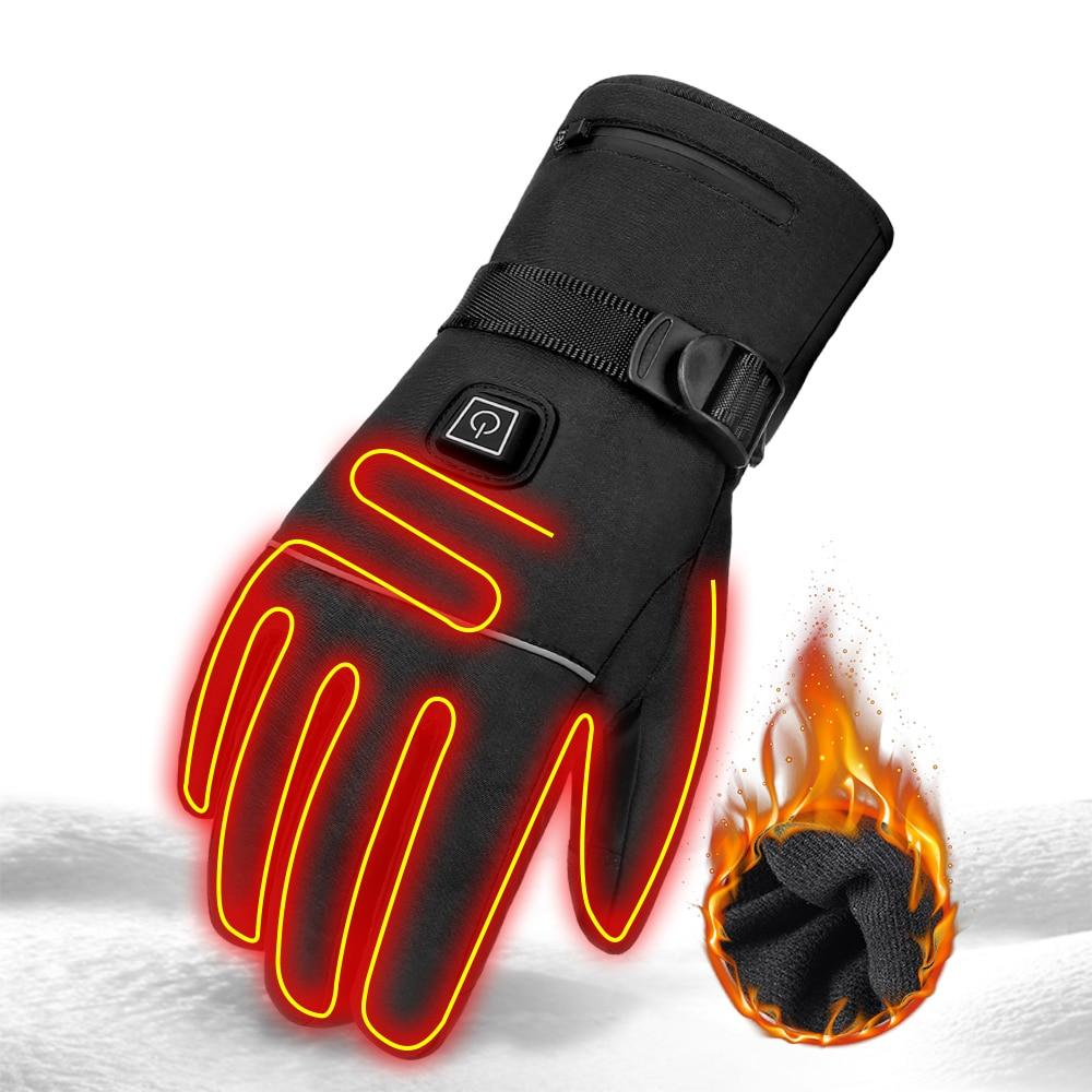 Waterproof Heated Gloves Touch Screen With Rechargeable Battery Riding Gloves - Gloves