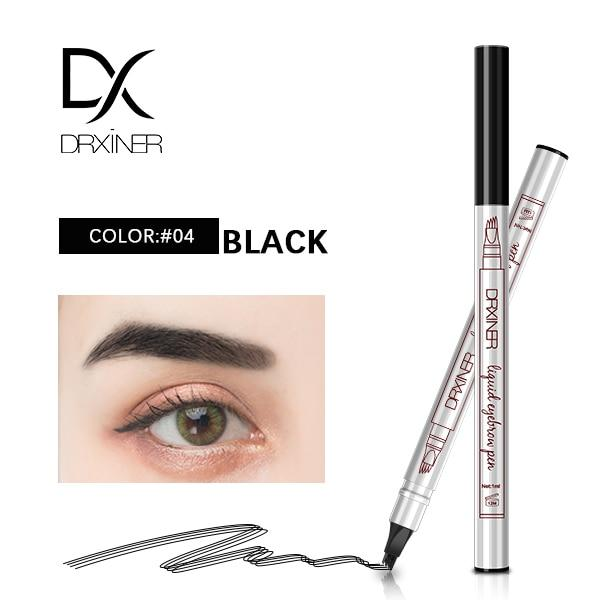 Waterproof Microblading Eyebrow Tattoo Pen - BLACK - Eyebrow Enhancers