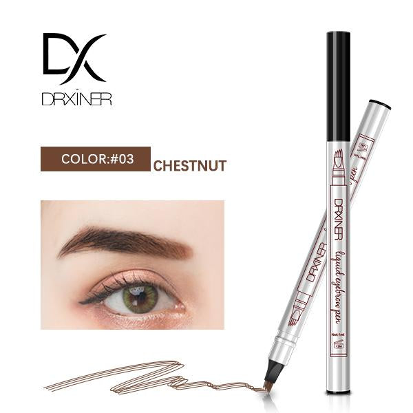Waterproof Microblading Eyebrow Tattoo Pen - CHESTNUT - Eyebrow Enhancers