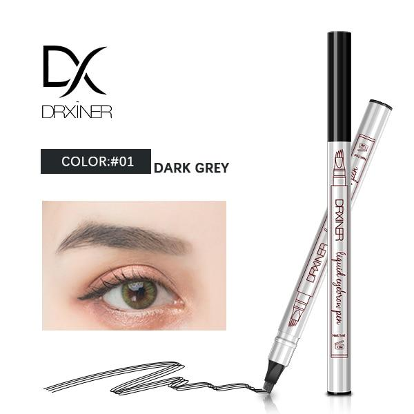 Waterproof Microblading Eyebrow Tattoo Pen - Dark grey - Eyebrow Enhancers