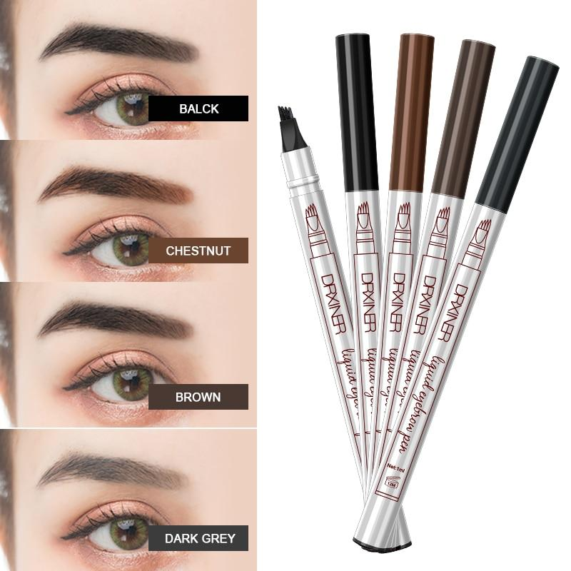 Waterproof Microblading Eyebrow Tattoo Pen - Eyebrow Enhancers
