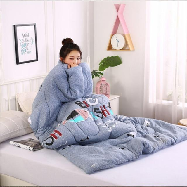 Wearablanket - Wearable Winter Lazy Quilt with Sleeves Cozy Blanket - Fish - Comforters & Duvets