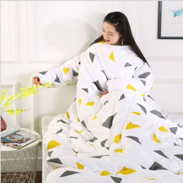 Wearablanket - Wearable Winter Lazy Quilt with Sleeves Cozy Blanket - Triangle - Comforters & Duvets