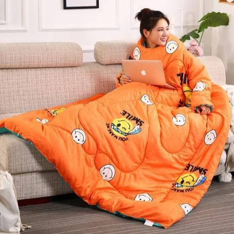 Wearablanket - Wearable Winter Lazy Quilt with Sleeves Cozy Blanket - Comforters & Duvets
