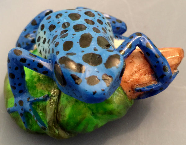 Wounaan Embera Poison Dart Frog Tagua Nut Carving-Panama 19102106mm