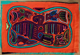 Kuna Indian Hand-Stitched Super Parrot & Fish MoIa-Panama 20010207mm