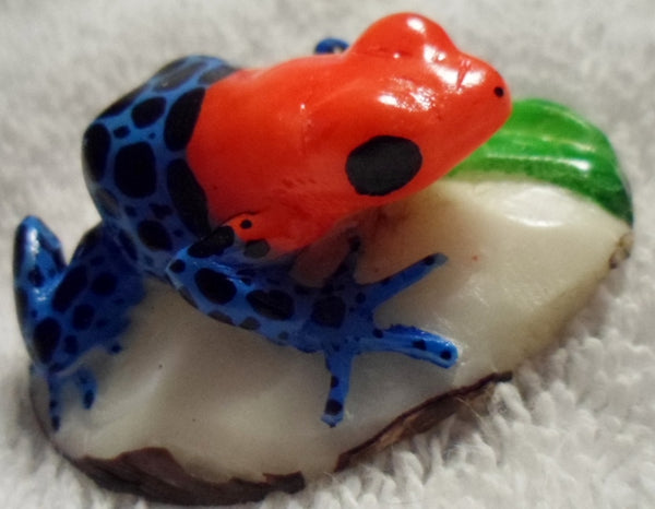 Wounaan Embera Tagua Nut Poison Dart Frog Carving-Panama 20010608mm
