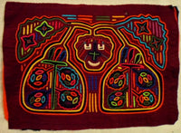 Kuna Indian Hand-Stitched Smiling Jack MoIa-Panama 20011011mm