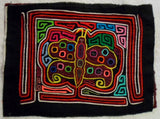 Kuna Indian Hand-Stitched Smiling Butterfly MoIa II-Panama 20012415mm