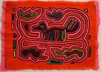 Kuna Indian Hand-Stitched On Golden Pond MoIa-Panama 20012416mm
