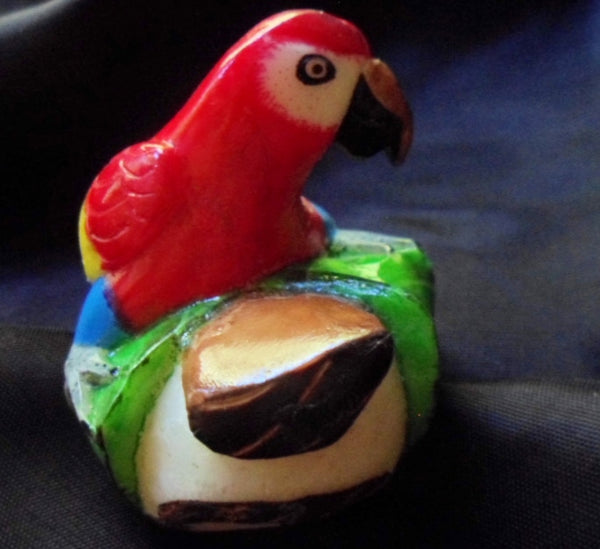 Wounaan Embera Macaw Parrot Tagua Nut Carving-Panama 20100118mm