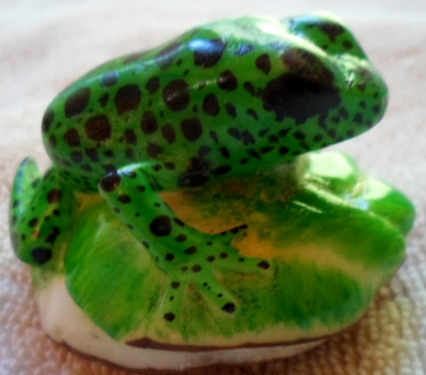 Wounaan Embera Poison Dart Frog Tagua  Nut Carving-Panama 20100114mm